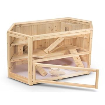 Kleintierstall Meerschweinchenstall FANNY aus Holz, 115x60x58 cm, Hamsterkäfig, Nagerkäfig - 1