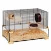 Ferplast Käfig für Hamster oder Mäuse Karat 60 Lebensraum für kleine Nagetiere, Struktur auf zwei Ebenen mit Zubehör, Flüssigkeitsresistente Etagen, 78,5 x 45,5 x 52,5 cm - 1