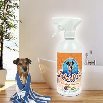Hundeshampoo Gegen Geruch | Hundeshampoo Weißes Fell | Hunde Shampoo | Julies No 1 | 500ml | PH-7 | Kokusnuss Vanille Duft | Anwendungsfertiger Schaum FCKW frei - 4
