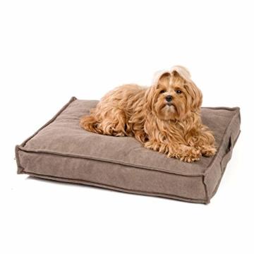 JAMAXX Premium Hundekissen Orthopädisch Memory Visco Schaum Waschbar Abnehmbarer Bezug Wasserabweisend - Weicher Samtiger Sofa Stoff - Hundebett PDB1001 (S) 65x50 braun - 1