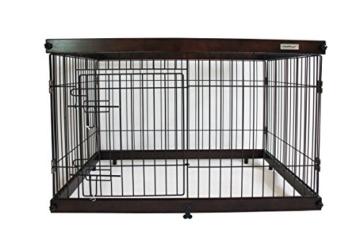 Simply Palace + L | Laufstall | Welpenlaufstall | Hundekäfig | Hundebox | Oben offen | Holz - 1