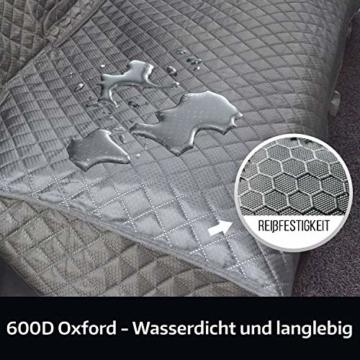 Vailge Hundedecke Auto Rückbank, wasserdichte Autoschondecke für Hunde Rücksitz Kratzfest rutschfeste mit Sicherheitsgurt, Hundedecke Auto mit Seitenschutz für Auto Van SUV (Grau) - 2