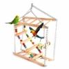 Balacoo Vogelspielplatz Holz Hängebrücke Haustier Hängeleiter Treppe Klettern Schaukel Doppelschicht-Spielzeug für Vogel Sittich Hamster Wellensittich Nymphensittich Papagei - 1