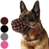 CollarDirect Maulkorb für Hunde Deutscher Schäferhund Dalmatiner Rottweiler, Setter Leder Korb Medium Große Rassen schwarz braun, L, Chestnut Brown - 1