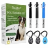 Hundepfeife, Hundepfeife mit Pfeifenband, Hund Training Kit HundPfeife, Zum Aufhören des Bellens mit Lanyard Hund Training Clicker mit Handschlaufe Leise Hund Borke Kontrolle Pfeife für Hunde - 1