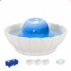 iPettie Trinkbrunnen Keramik für Katzen Hunde Haustier Automatisch Wasserbrunnen mit Kohlefilter 2,1L Lotus/Kugel Katzenbrunnen Wasserspender Brunnen Katze Keramik Filter Pet Fountain - 1