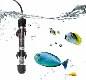 BTkviseQat Aquarium Heater, Thermocontrol Reglerheizer Aquarienheizer, passt Aquarium Fischtanks (EU Stecker), 25WUnterwasser Aquarium Heizung mit Thermometer - 2