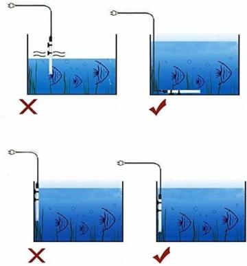 BTkviseQat Aquarium Heater, Thermocontrol Reglerheizer Aquarienheizer, passt Aquarium Fischtanks (EU Stecker), 25WUnterwasser Aquarium Heizung mit Thermometer - 3
