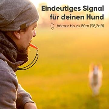 ENERO Hundepfeife - Extrem zuverlässiges Hundetraining & Erziehung - Hochfrequenz - weitreichende Lautstärke - Inkl. praktischem Umhängeband - 3