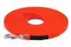 LENNIE BioThane Schleppleine, 5m, Neon-Orange, 16mm für große Hunde, genäht - 1