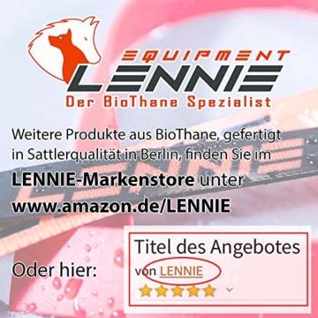 LENNIE BioThane Schleppleine, 5m, Neon-Orange, 16mm für große Hunde, genäht - 2