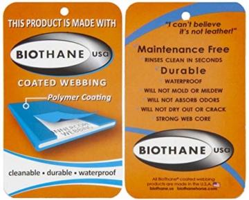 LENNIE BioThane Schleppleine, 5m, Neon-Orange, 16mm für große Hunde, genäht - 5