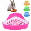 MINGZE Tiertoilette, Pet Töpfchen, Töpfchen-Ecke für Katzentoilette, Hamster, Meerschweinchen (Zufällige Farbe) - 1