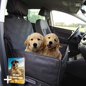 Nestor & Gamble 2-in-1 Hundesitz mit Anschnallgurt fürs Auto - Rückenlehnenschutz Kopfstützenbezug - 1