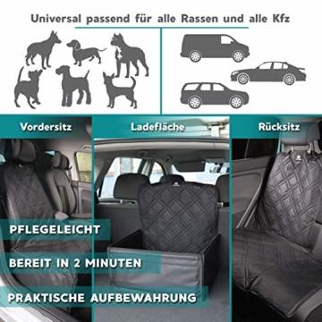 Nestor & Gamble 2-in-1 Hundesitz mit Anschnallgurt fürs Auto - Rückenlehnenschutz Kopfstützenbezug - 8