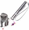 OUTERDO LED Pointer, LED Pointer USB wiederaufladbar Haustier Interaktives Spielzeug und eine Sisalmaus für Katzen - 1