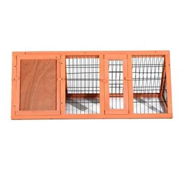 PawHut Hasenstall Hasenkäfig Kaninchenstall Kleintierstall mit Freigehege Hasen Auslauf dreieckig - 7