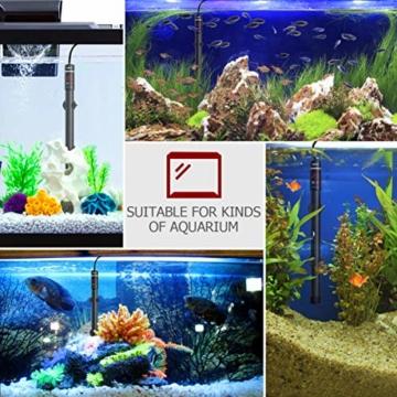 POPETPOP [Verbesserte 400W Aquarium Heizung - Unterwasser Aquariumheizer Titan Fischtanks Heizstab mit Intelligenter LED Temperaturregler - 2