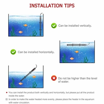 POPETPOP [Verbesserte 400W Aquarium Heizung - Unterwasser Aquariumheizer Titan Fischtanks Heizstab mit Intelligenter LED Temperaturregler - 3