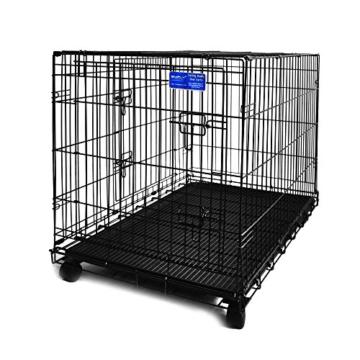 Simply Maison XL | Hundekäfig | Transportbox | Drahtkäfig mit 2 Türen, schraubbaren Rollen und Tragegriff | ( 107cm x 72cm x 81,5cm ) - 1
