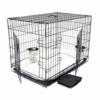 Wiltec Haustier Hundebox Transportbox Komplettset Hundekäfig Faltbar Transportkäfig L 107x71x76cm Set - 1