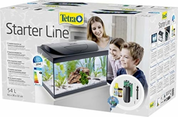 Tetra Regular Starter Line Aquarium-Komplettset mit LED-Beleuchtung stabiles 54 Liter Einsteigerbecken mit Technik, Regular Starterline, Futter und Pflegemitteln - 2