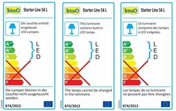 Tetra Regular Starter Line Aquarium-Komplettset mit LED-Beleuchtung stabiles 54 Liter Einsteigerbecken mit Technik, Regular Starterline, Futter und Pflegemitteln - 8