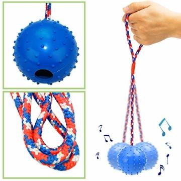 AEITPET Hunde Ball mit am Seil hundeball mit Schnur Naturkautschuk hundespielzeug Ball hundeball unzerstörbar Bälle Spielzeug am Seil für Hunde Kauspielzeug aus Naturgummi Hunde Spielzeug - 2