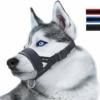 ILEPARK Maulkorb aus Nylon um Hunde vom Beisen, Bellen und Kauen abzuhalten, anpassbare Schlinge (L,Schwarz) - 1