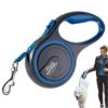 Hundeleine von Simply Natural - 3 Meter aufrollbare Hundeleine für Hunde bis 15 kg - 1-Knopf Stopper & Sperre für widerstandsfähige Hundeleine einziehbar - 1