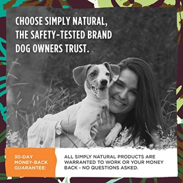 Hundeleine von Simply Natural - 3 Meter aufrollbare Hundeleine für Hunde bis 15 kg - 1-Knopf Stopper & Sperre für widerstandsfähige Hundeleine einziehbar - 5