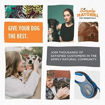 Hundeleine von Simply Natural - 3 Meter aufrollbare Hundeleine für Hunde bis 15 kg - 1-Knopf Stopper & Sperre für widerstandsfähige Hundeleine einziehbar - 7