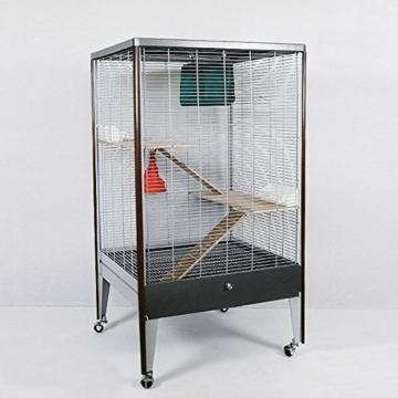 Montana Cages ® | NEUHEIT ! Voliere, Käfig für Nager in Holzoptik ! Chinchilla & Co. - 1