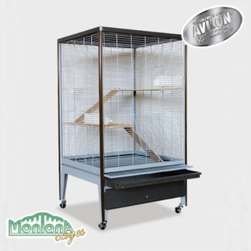 Montana Cages ® | NEUHEIT ! Voliere, Käfig für Nager in Holzoptik ! Chinchilla & Co. - 2