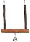 Trixie 5831 Natural Living Trapezschaukel mit Glocke, 12 × 15 cm - 1