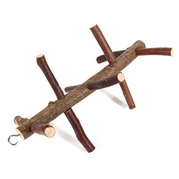 Vogelkäfig-Sitzstange, für Papageien und Wellensittiche, Zubehör, Holzspielzeug - 2