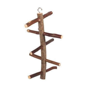 Vogelkäfig-Sitzstange, für Papageien und Wellensittiche, Zubehör, Holzspielzeug - 4