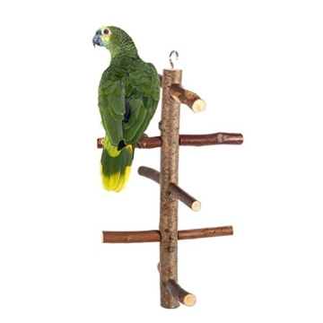 Vogelkäfig-Sitzstange, für Papageien und Wellensittiche, Zubehör, Holzspielzeug - 1