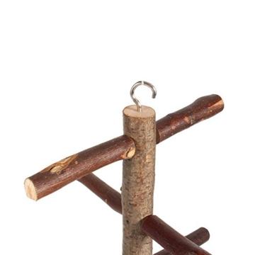 Vogelkäfig-Sitzstange, für Papageien und Wellensittiche, Zubehör, Holzspielzeug - 5