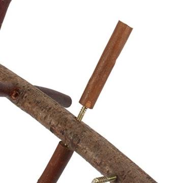 Vogelkäfig-Sitzstange, für Papageien und Wellensittiche, Zubehör, Holzspielzeug - 6