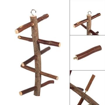 Vogelkäfig-Sitzstange, für Papageien und Wellensittiche, Zubehör, Holzspielzeug - 7