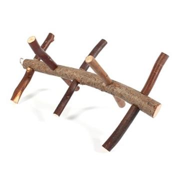 Vogelkäfig-Sitzstange, für Papageien und Wellensittiche, Zubehör, Holzspielzeug - 8