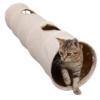 LeerKing Katzentunnel Kaninchen Röhr Katzenspielzeug Faltbar Spieltunnel Rascheltunnel für alle Katzen und kleine Tiere 2 Höhlen 120 * 25cm - 1