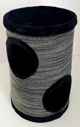 Lemio® Katzentonne Browny Kratzbaum Kratztonne Möbel für Katzen Spieltonne 50cm hoch - (Blackys) - 1