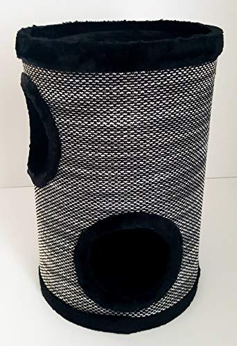 Lemio® Katzentonne Browny Kratzbaum Kratztonne Möbel für Katzen Spieltonne 50cm hoch - (Blackys) - 4