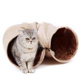 PAWZ Road sämisch Katzentunnel Katzenspielzeug Rascheltunnel Spieltunnel 120cm mit 2 Höhlen - 1