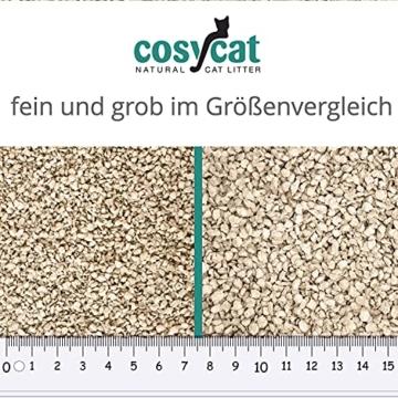 COSYCAT Klumpendes Bio-Katzenstreu aus Holz [100% Natürlich] – 40 l - in der Toilette entsorgbar – Klumpstreu pflanzlich - Holzstreu - 2