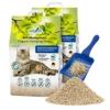 COSYCAT Klumpendes Bio-Katzenstreu aus Holz [100% Natürlich] – 40 l - in der Toilette entsorgbar – Klumpstreu pflanzlich - Holzstreu - 1