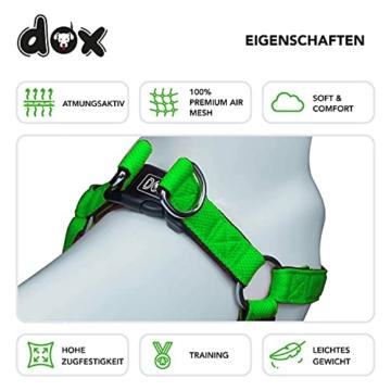 DDOXX Hundegeschirr Air Mesh, Step-In, verstellbar, gepolstert | viele Farben & Größen | für kleine, mittlere & große Hunde | Brust-Geschirr Hund Katze Welpe groß | Katzen-Geschirr klein | Grün, XS - 3
