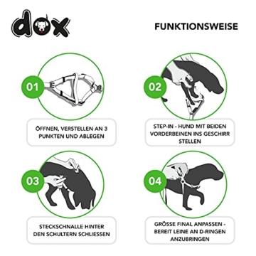 DDOXX Hundegeschirr Air Mesh, Step-In, verstellbar, gepolstert | viele Farben & Größen | für kleine, mittlere & große Hunde | Brust-Geschirr Hund Katze Welpe groß | Katzen-Geschirr klein | Grün, XS - 4